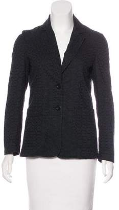 See by Chloe Perforated Long Sleeve Blazer
