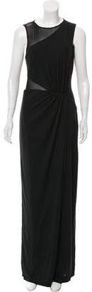 Halston Semi-Sheer Knit Maxi Dress w/ Tags