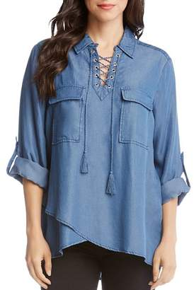b16eb119265 Womens Chambray Lace Shirt - ShopStyle