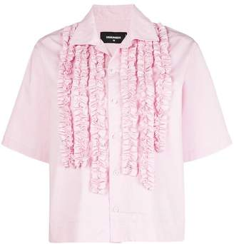 DSQUARED2 embroidered short-sleeve shirt