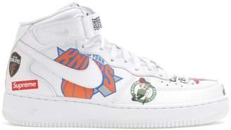 Nike Force 1 Mid Supreme NBA White