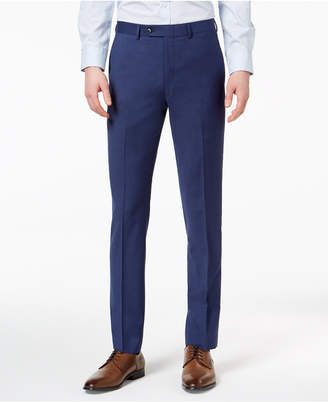 Calvin Klein Men's Extra-Slim Fit Infinite Stretch Blue Twill Suit Pants