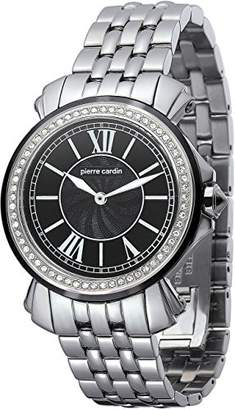 Pierre Cardin Monaco Madame Women's Quartz Watch with Black Dial Analogue Display and Silver Stainless Steel Bracelet PC100742F05