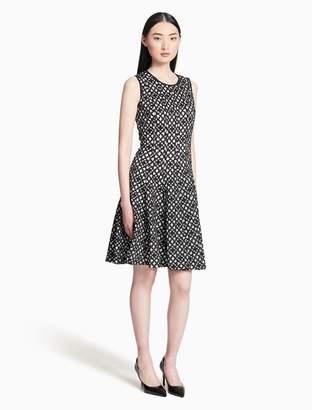 Calvin Klein lasercut flared dress