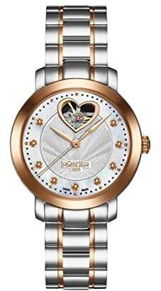 Mother of Pearl Roamer Women's Automatic Watch with Dial Analogue Display and Two Tone Stainless Steel Bracelet 556661 46 19 50