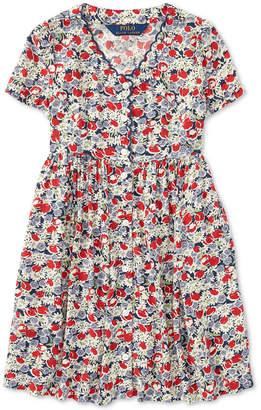 Polo Ralph Lauren Little Girls Floral Button-Front Dress