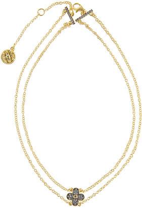 Freida Rothman Pave Clover Pendant Choker Necklace