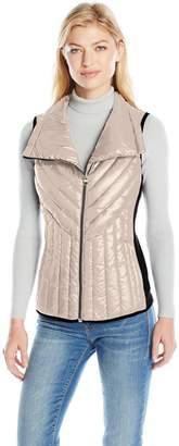 Calvin Klein Women's Down Filled Asymmetric Collar Quilted Vest