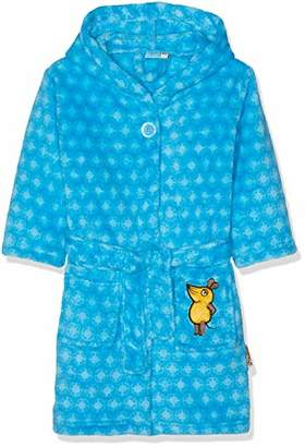Playshoes DIE MAUS Baby Boys' Kinder Fleece-Bademantel Die Maus Blau Bathrobe, Blue 7