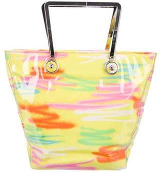 Gianni Versace Printed Canvas Tote