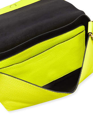 Burberry Burleigh Small Soft Leather Crossbody Bag, Yellow
