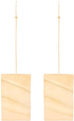 Marques Almeida Marques'almeida wavy plate earrings