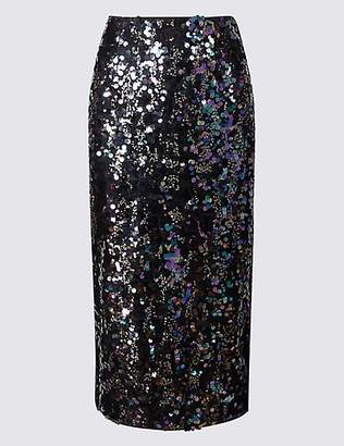 M&S Collection Embellished Pencil Midi Skirt
