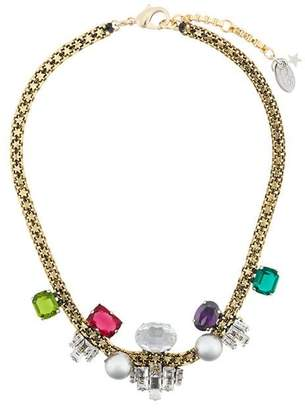 Rada' Radà gemstone and faux pearl embellished necklace