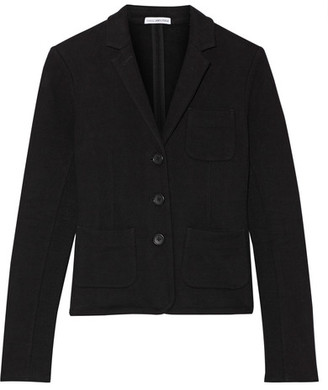 James Perse - French Cotton-terry Blazer - Black $295 thestylecure.com