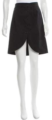 Marc Jacobs Linen-Blend Knee-Length Skirt Black Linen-Blend Knee-Length Skirt