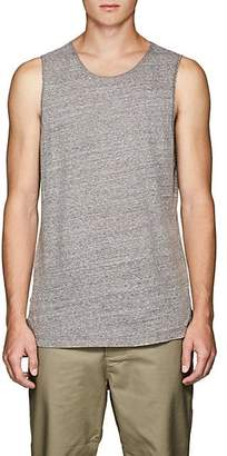 Chapter MEN'S HEATHERED COTTON-BLEND TANK - GRAY SIZE L