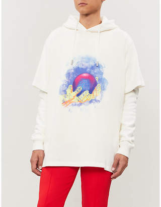 Off-White Hands printed cotton-jersey hoody