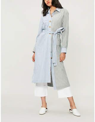 REJINA PYO Madison striped cotton shirt dress