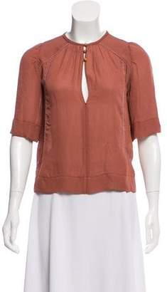 Isabel Marant Short Sleeve Silk Top