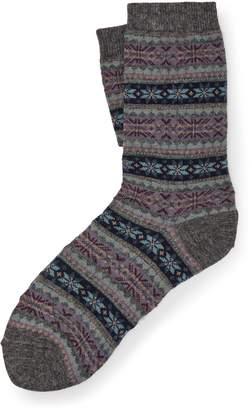 Ralph Lauren Fair Isle Boot Socks