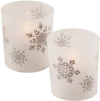 Lumabase LumaBase Snowflake LED Candle 2-piece Set