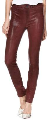 Paige Hoxton High Waist Ultra Skinny Leather Pants