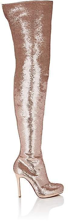 Christian Louboutin Women's Moulin Noir Paillette Cuissard Boots