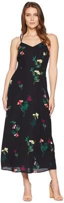 Vince Camuto Sleeveless Tropical Garden Bouquet Maxi Dress Women's Dress