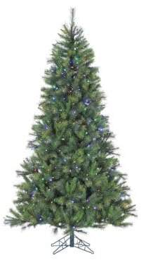 Fraser Hill Farms Pre-Lit Canyon Pine Artificial Christmas Tree - Multi - 10 Ft.