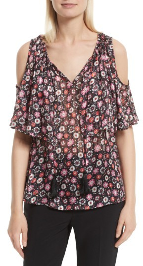 Women's Kate Spade New York Mini Casa Flora Cold Shoulder Blouse