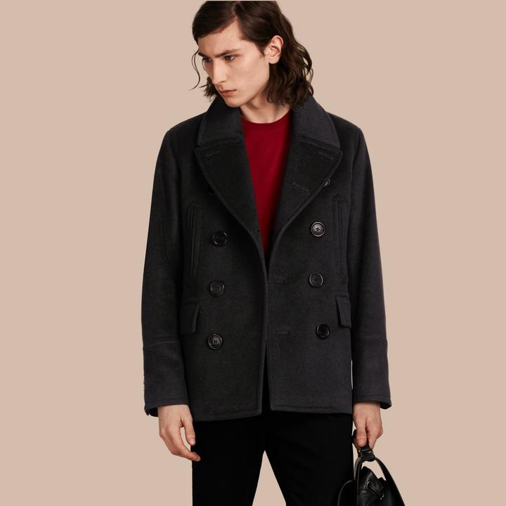 Men Designer Pea Coat - ShopStyle Australia