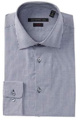 John Varvatos Collection Soho Mini Gingham Slim Fit Dress Shirt