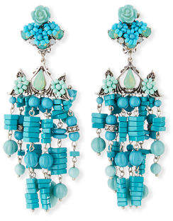 Dannijo Lionel Beaded Chandelier Clip-On Earrings