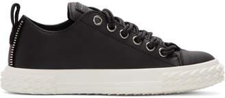 Giuseppe Zanotti Black Leather Blabber Sneakers
