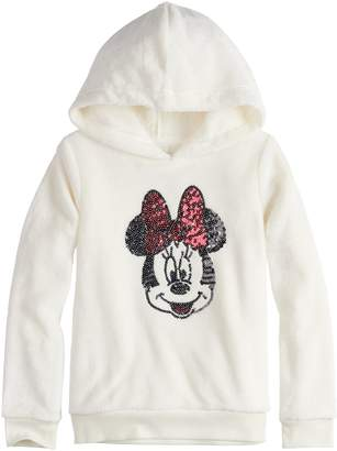 Disneyjumping Beans Disney's Minnie Mouse Toddler Girl Sequined Graphic Fuzzy Hoodie by Jumping Beans