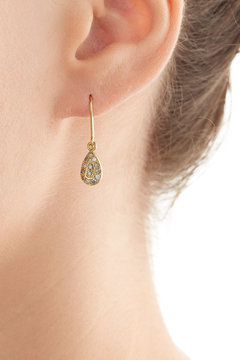 Carolina BucciCarolina Bucci 18k Yellow Gold Earrings with Diamonds