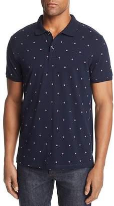 Scotch & Soda Diamond-Print Regular Fit Polo Shirt