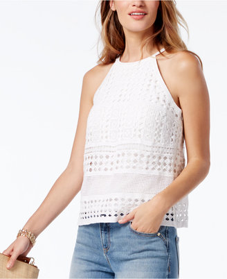 Inc International Concepts Crocheted Lace Top, Only at Macy's $79.50 thestylecure.com