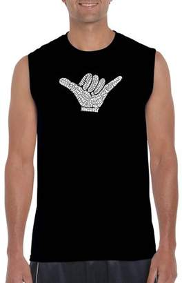Pop Culture Los Angeles Pop Art Big Men's Sleeveless T-Shirt - Top Worldwide Surfing Spots