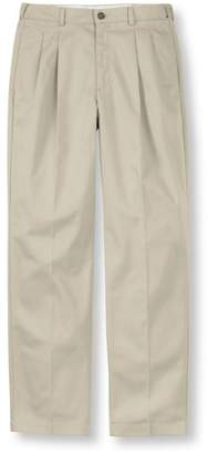 L.L. Bean L.L.Bean Wrinkle-Free Double L Chinos, Natural Fit Hidden Comfort Pleated