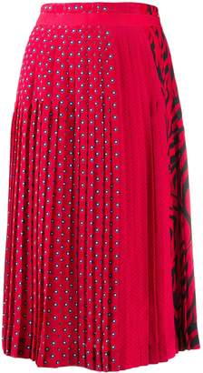 Ermanno Scervino mixed-print pleated skirt