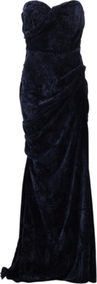 MICHAEL KORS Crushed Velvet Bustier Gown