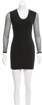 Robert Rodriguez Sheath Lace-Accented Dress