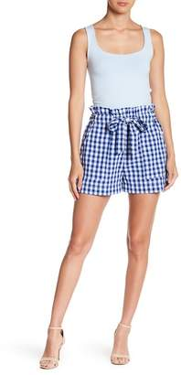 HYFVE Plaid Tie Waist Shorts