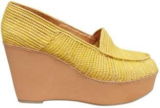 Carven Yellow Polyester Flats