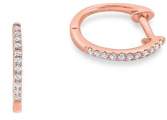 KC Designs Women's 14K Rose Gold Diamond Mini Hoop Earrings