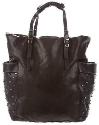 Jimmy Choo Embellished Leather Satchel