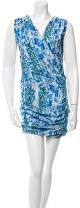 IRO Printed Sleeveless Mini Dress
