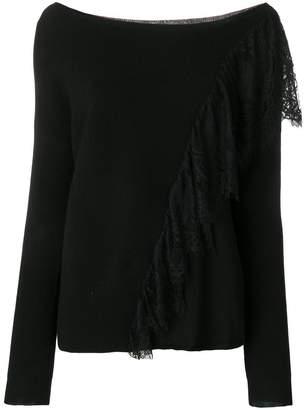 Liu Jo lace detailed sweater